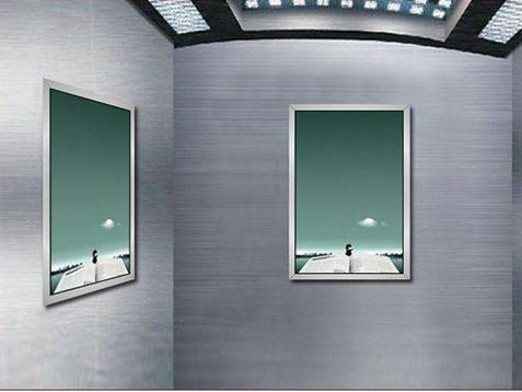 电梯框架广告、电子屏广告、门贴广告常用的尺寸标准